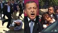 وحشیگری محافظان اردوغان علیه معترضان در امریکا