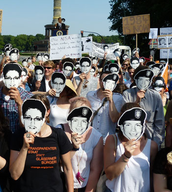 Protest for edward snowden