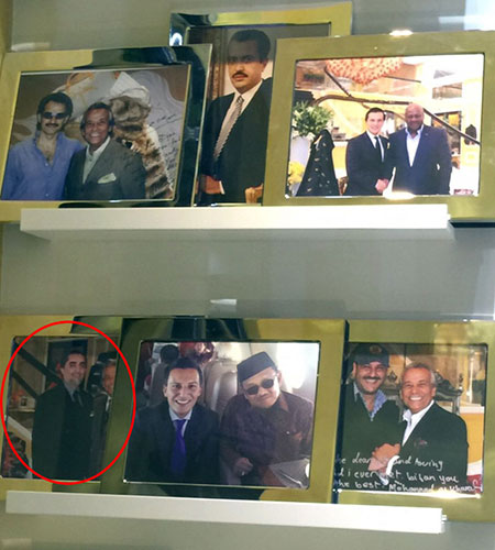 Bijan has put on display the photos of some of his regular costumers.