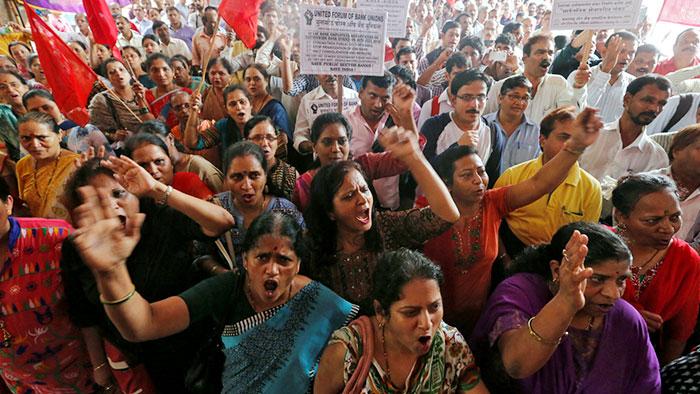 په هند کې د بیوزلۍ او ناتارۍ په وړاندي د نړۍ ستر کارګري اعتصاب