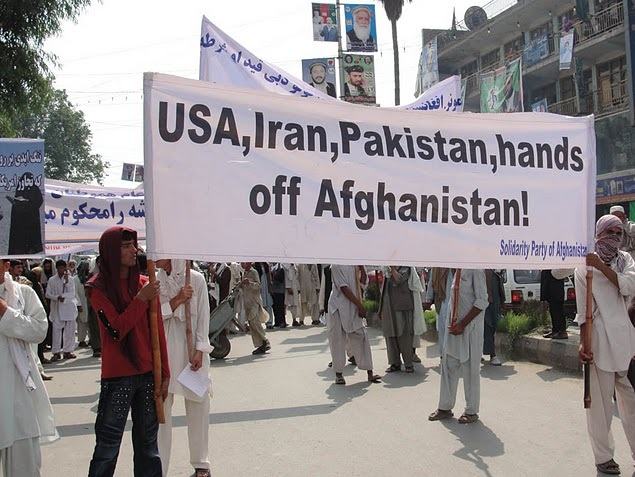 To mark Afghanistan Independence Day, SPA staged a large demonstration in Jalalabad on Aug.19, 2010